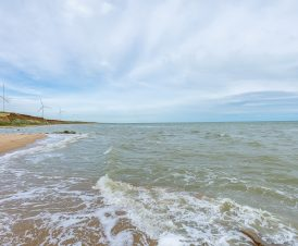 Азовское море на фоне ветряков